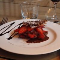 Un très beau millefeuille aux fraises