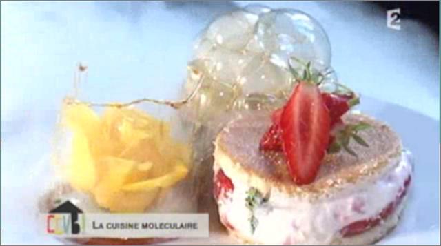 Kitchen studio diffusion du cours de cuisine moleculaire dans l emission - Emission cuisine france 2 ...